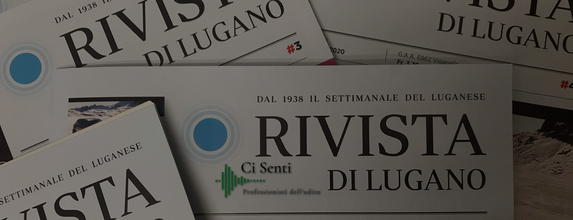 Inserzione Ci Senti sulla Rivista di Lugano